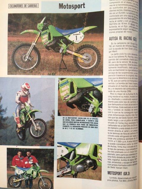 "1992 Revue ""Motociclismo"" Comparativ 50 Cross Automatique Metrakit / Derbi / Bidalot"