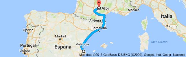 Demain on part a Mer/Albi , Parte 1 du voyage