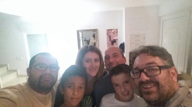 Là famille Yannick de visite chez moi