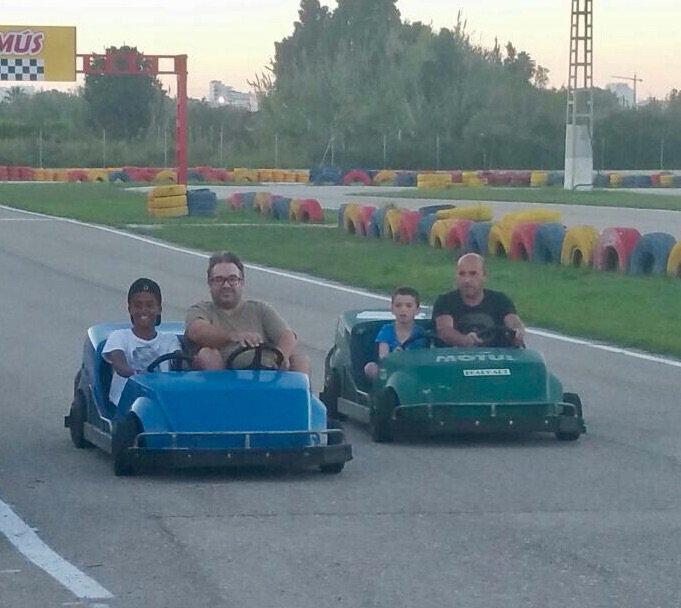 De la course sur le Karting