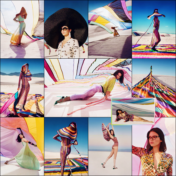 - ▬ Kendall Jenner prenait la pose pour « Missoni » et sa collection de Spring/Summer 2018 !-