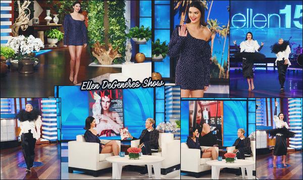 14 mars 2018 - miss  Kendall J. été l'invitée du célèbre show américain Ellen DeGeneres !