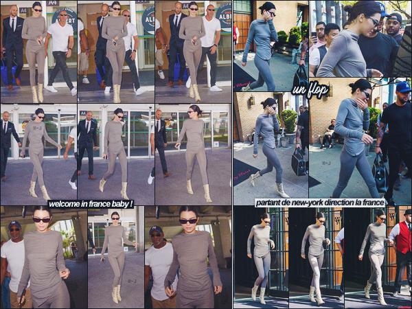 10/05/18 - C'est dans la matinée, que miss Kendall Jenner à été vue seule sortant à l'aéroport de Nice, FR.   | Bienvenue en France Kendall ! Le mannequin serra présente comme chaque année au Festival De Cannes. Que pensez-vous de la tenue? ● ● FLOP |