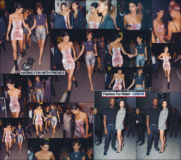 12/05/18 - Kendall Jenner à été photographiée sortant de la fête organisée par «Magnum», Cannes, FR.   | J'adore ce candids, les filles sont trop jolies ! Niveau tenue j'aime beaucoup la tenue de Kendall Jenner, cette couleur lui va au top ! ● ● UN TOP |
