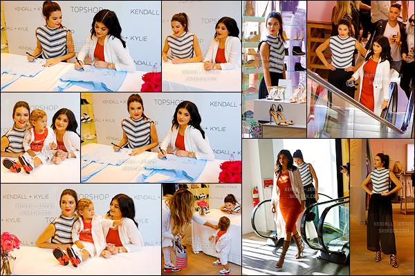 - 03/06/15 : Les soeurs Jenners était présente à l'événement : « Kendall + Kylie Fashion Line Launch Party ».   C'est donc le jour du lancement de leur collection pour la marque anglaise Topshop ! Kendall et Kylie étaient tout simplement superbes. Un top ! -