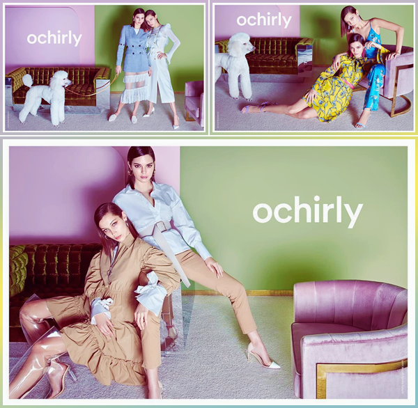 - ▬ Kendall Jenner et Bella Hadid prennent la pose pour « Orchily » pour Spring/Summer '18.-