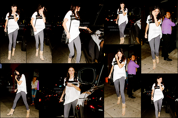 - 21/06/15 : Kendall Jenner s'est rendue avec des quelques amies au restaurant japonais « Izaka-Ya » en soirée.   Petite pause restaurant pour la brunette en vogue. Parlons de la tenue de Kendall ! Je n'aime pas vraiment son haut, un bof. Et vous votre avis ? -