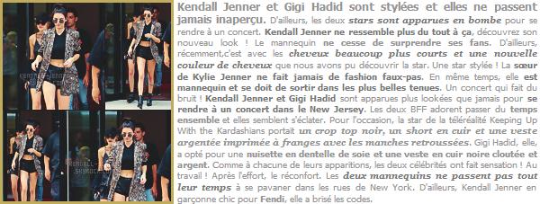 25/07/16 - Gigi Hadid & Kendall Jenn' était de sortie à New-York City - totalement stylée !