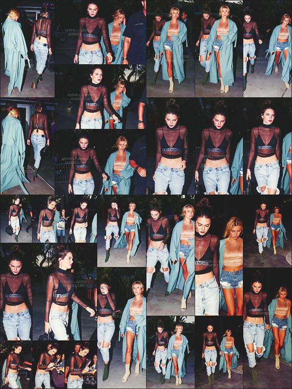 06/08/16  - Toutes deux stylées,  Ken' était avec son amie  Hai' Baldwin dans les rues de L.A !