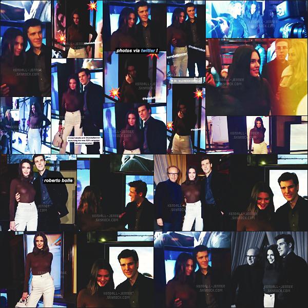 .  14/01/18 -   K.  Jenner était à l'inauguration de la campagne Tods avec Roberto Bolle, à Milan  un top ou flop ?Notre séduisante mannequin était superbe et sourire en, jean blanc et moccassins, un look tendance et super au bras du bel italien, un vrai top.  .