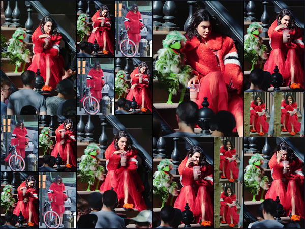 - ''02.05.17'-''─''Kendall Jenner était sur le set d'un photoshoot avec les célèbres « Muppets » dans New York City ![/s#00000ize]C'est des tenues loufoques, des couleurs criardes puis des marionnettes sont au rendez-vous ! Un photoshoot qui risque d'être agréablement original... -