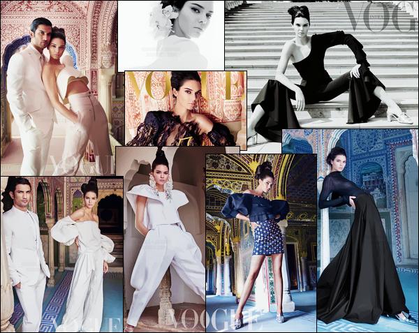 - ─ Kendall Jenner est à l'honneur du « VOGUE India » pour le mois de mai 2017 !-
