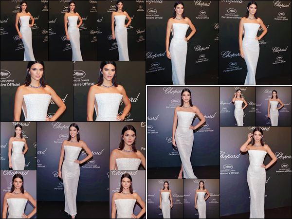 - ''19.05.17'-''─''La belle Kendall Jenner était présente lors du « Chopard Space Party » au festival de Cannes ![/s#00000ize]Kendall était sublime pour son premier tapis rouge du festival du film de Cannes ! À l'after-party celle-ci était en compagnie de son amie Bella Hadid. -