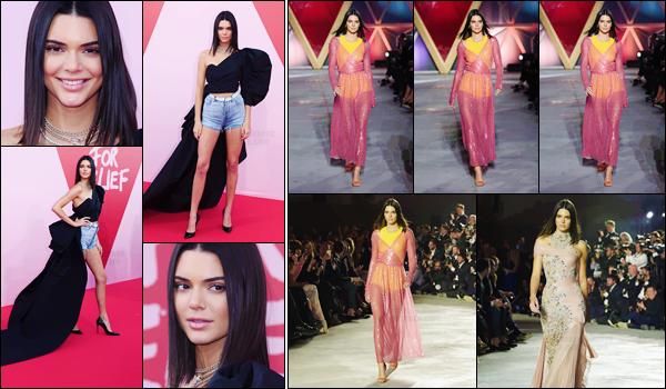- ''21.05.17'-''─''Kendall Jenner était présente lors du « Fashion for Relief » où elle à aussi défilé à Cannes.[/s#00000ize]Plusieurs mannequins défilaient pour l'événement, dont on amie Bella Hadid. Comme la plupart d'entre elles, Kendall a porté deux tenues différentes. -