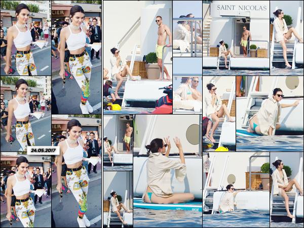 - ''25.05.17'-''─''Pour une énième fois, Kendall Jenner se trouvait sur un yacht avec ses amis dans les Antibes ![/s#00000ize]La veille, enchaînant plusieurs sorties au cours de la journée, Kendall a été photographiée en quittant un commerce vendant des glaces dans Cannes. -