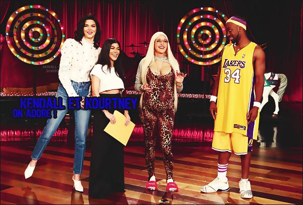 ۰VIDÉO       Kourtney K. & Kendall Jenner étaient sur le plateau de « Ellen Degeneres ».   - Marque de fabrique de la star américaine, Ellen mélange humour, audace et déguisement à l'image du clan Jenner/Kardashian - on aime ...