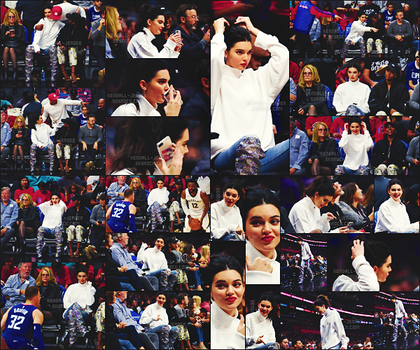 .  04/11/17 - Kendall a été vue  au match de basket de son petit-ami , des encouragements ! - top ou flop ?Kendall était belle, retrouvant sa pote Justine Skye, miss portait des bottes glitter , un petit look tout cute pour cet évènement - un gros top.  .