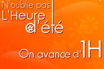 PASSAGE A L'HEURE D'ETE