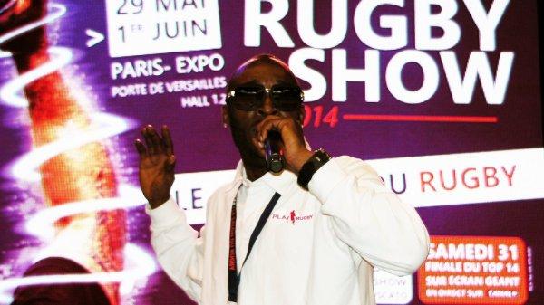 Vince Mc Clenny en Live au Paris Rugby Show à la porte de Versailles pour présenter son nouvel Hymne Jump Up High !!!