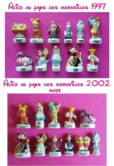 Séries de fèves Alice au pays des merveilles + affiche et couronne