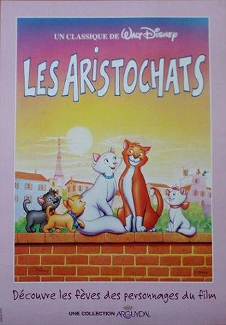 Séries de fèves les aristochats + affiche et couronne