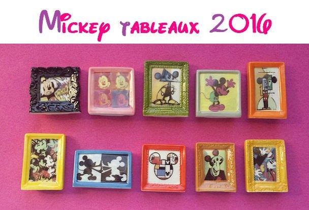 SERIE COMPLETE DE FEVES  MICKEY TABLEAUX 2016