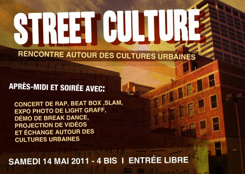 Evènement Street Culture le Samedi 14 Mai !!!