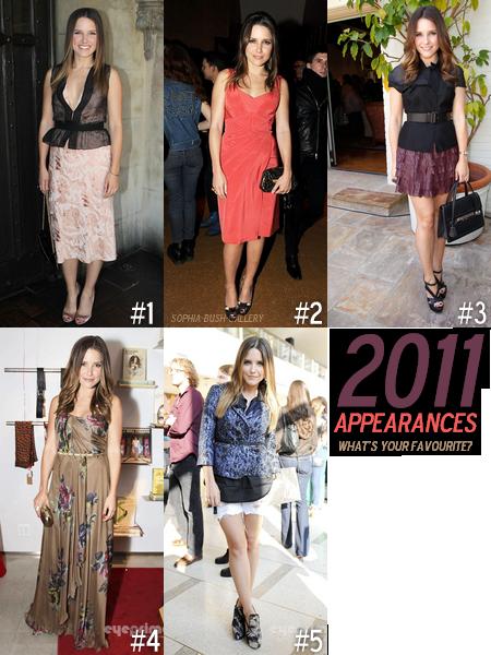 Review 2011 - Votez pour votre tenue préférée de @SophiaBush !