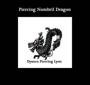 PIERCING NOMBRIL DRAGON NOIR