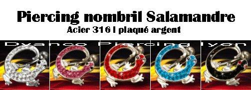 NOUVEAU MODELE 9,60¤ Piercing nombril Salamandre piercing inversé http://www.dyancopiercinglyon.fr/piercing_nombril_vente_de_piercing_10.html