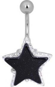 Piercing Haut de Gamme Crystal Evolution aux strass Swarovski Piercing nombril crystal evolution goldestone star