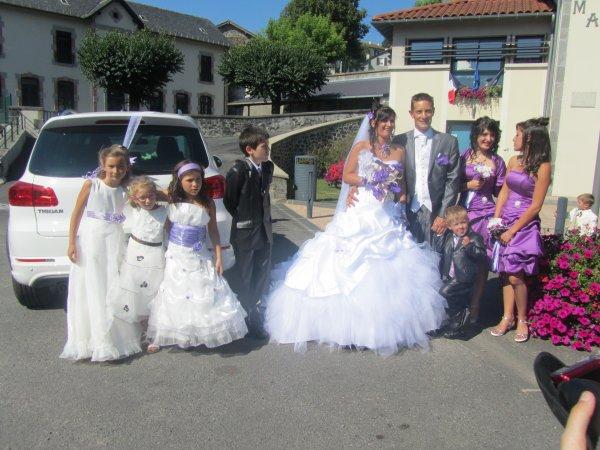 le mariage de mon fils lionel et ma belle fille carine