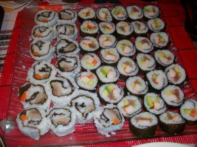 maki,maki ou sushis