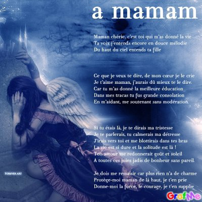 Poeme Pour Ma Maman Qui Me Manque Ma Famille