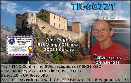 SWL PSK31  de Corse