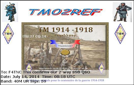 Commémoration de la grande guerre 14/18