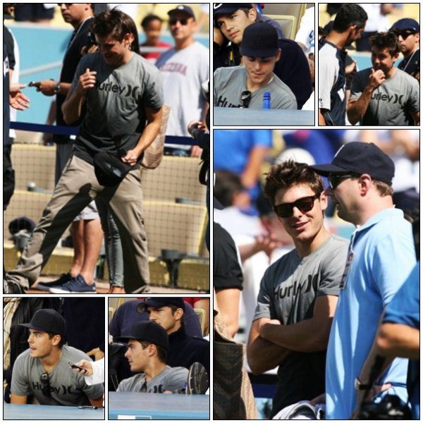 // Zac au match des Yankees VS Dodgers et nominations aux Teen Choice Awards 2010 //