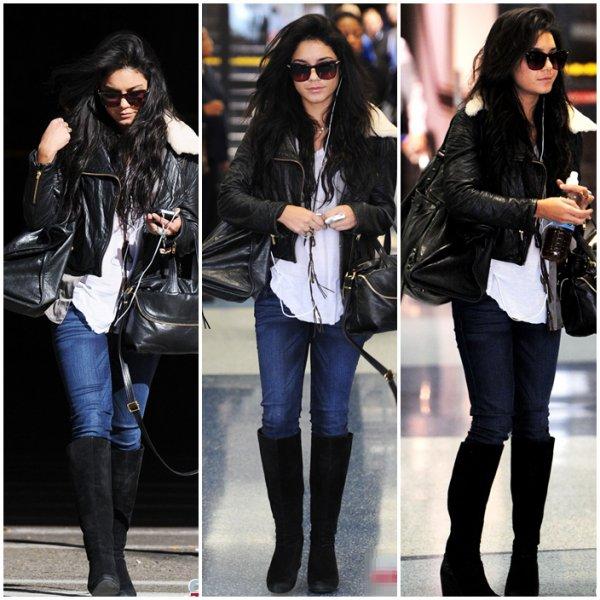 Vanessa à l'aéroport LAX de Los Angeles // Ira t'elle au Golden globes avec Zac ?