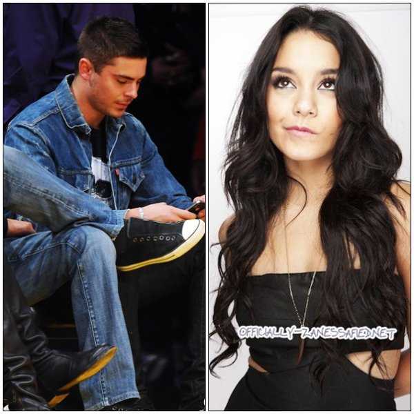 Zac assiste a un match des Lakers -- Photoshoot Vanessa (Comic Con 2010)