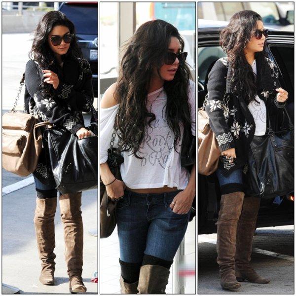 """--- Vanessa quitte L.A pour terminer le tournage de"""" The Journey 2 """" -- pas de Red Carpet"""