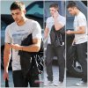 Zac Efron sortant d'un studio d'Hollywood // J'adore son look...