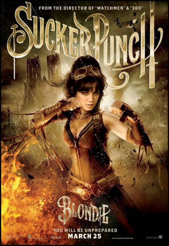 """--  Nouveau Poster de """"Sucker Punch avec Vanessa --"""