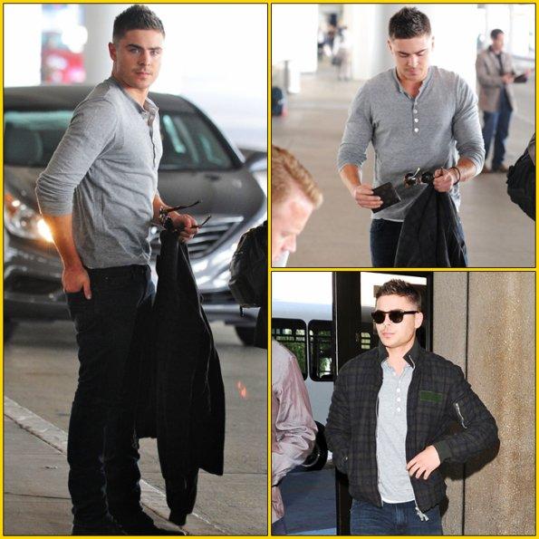 -- Zac prend un avion pour NY (il commence le tournage de NYE) --
