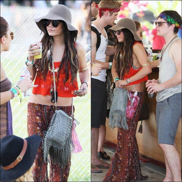 Festival Coachella -   Vanessa avec.... Josh Hutcherson