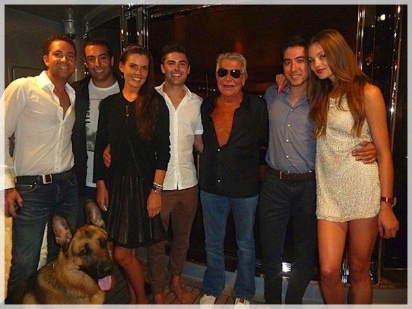 Zac sur le yacht de Roberto Cavalli ce week end, Monte Carlo.