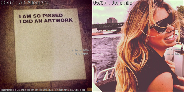 * Photos Twitter postées par Erica et Alle Fister !*
