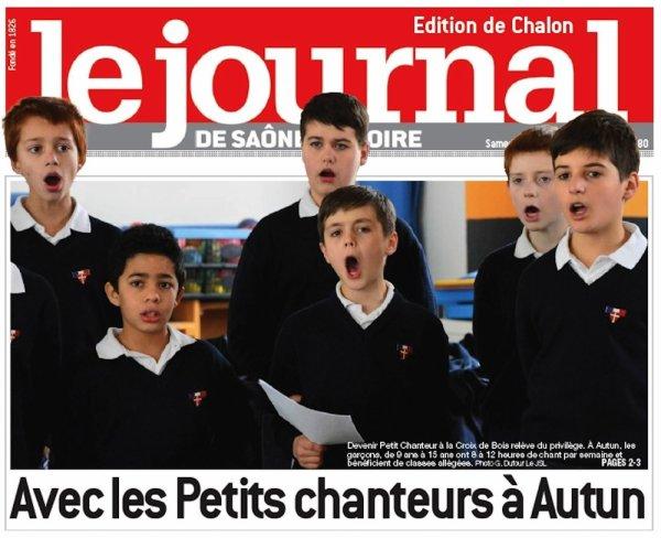 Avec les petits chanteurs à Autun