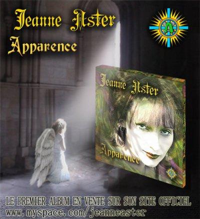 """BIENVENUE!!! L'ALBUM DE JEANNE ASTER """"APPARENCE"""" MP3 EST EN VENTE!!!"""