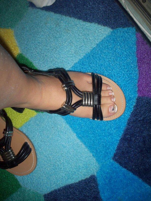 Chaussures Ouvertes Noires.