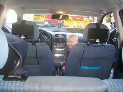 mon fils et ma voiture